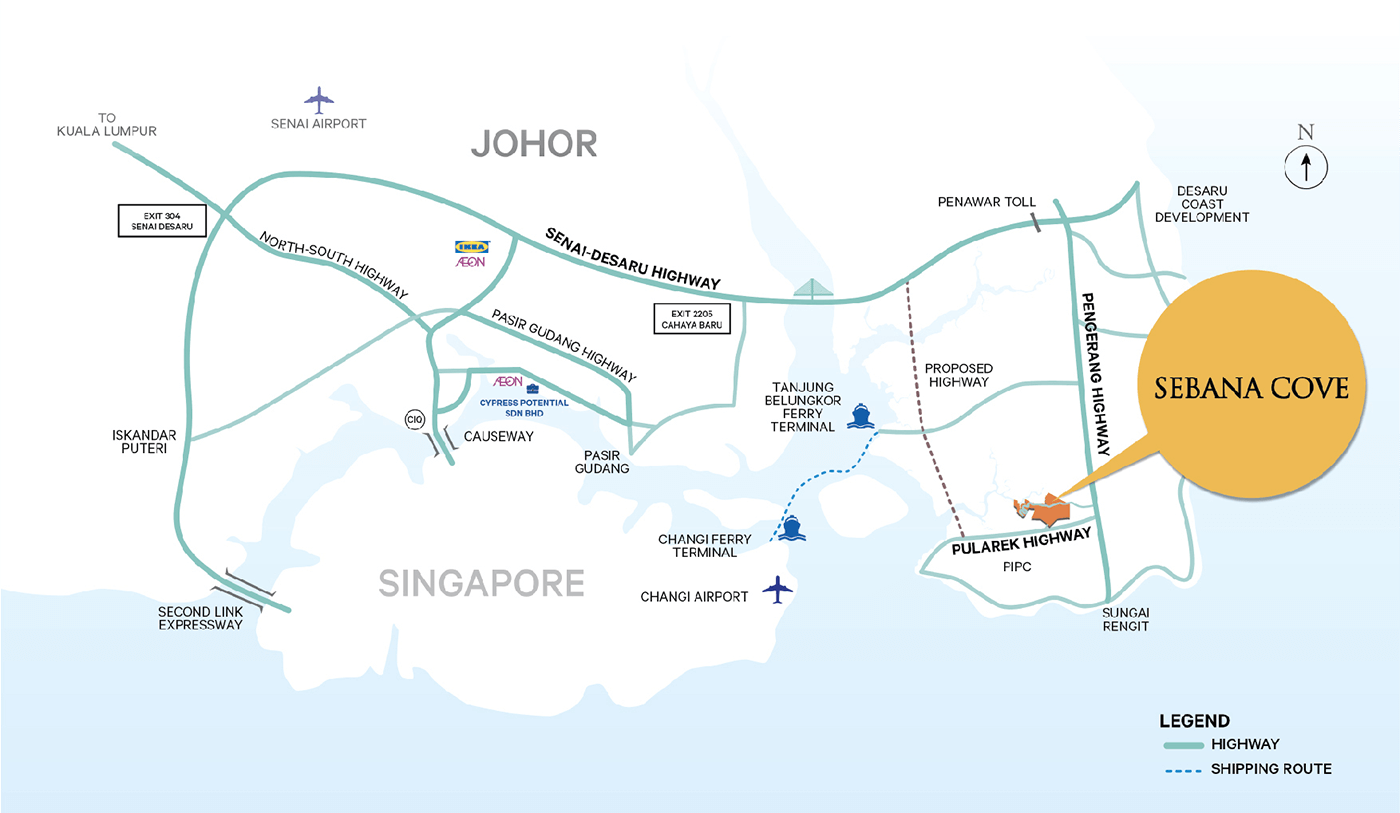 Sebana Cove location map