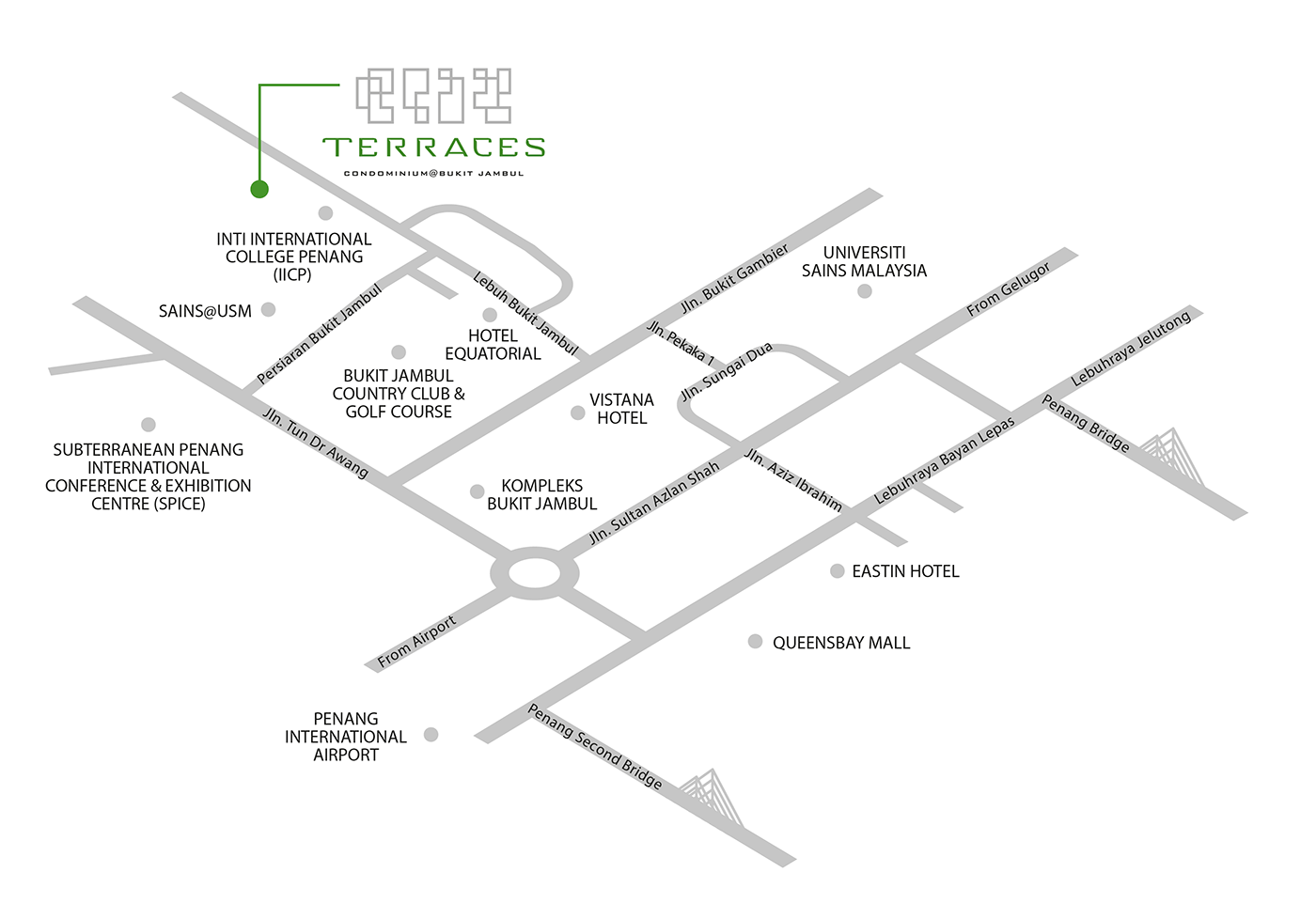 The Terraces Condominium location map
